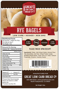 Great Low Carb Bread Company - Rye Bagels