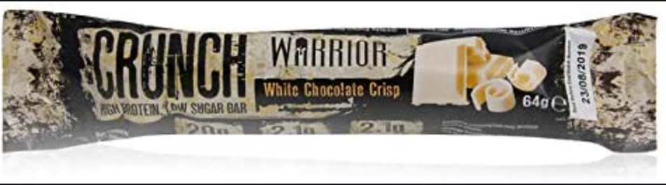 Warrior Crunch Protein Bar - White Chocolate Crisp