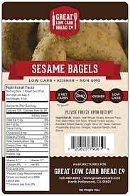Great Low Carb Bread Company - Sesame Bagels