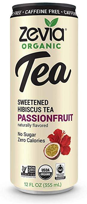 Zevia Organic Tea - Sweetened Hibiscious Tea Passionfruit