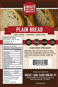 Great Low Carb Bread Company - Plain Bread