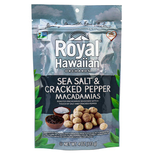 Royal Hawaiian Orchards - Sea Salt & Cracked Pepper Macadamias