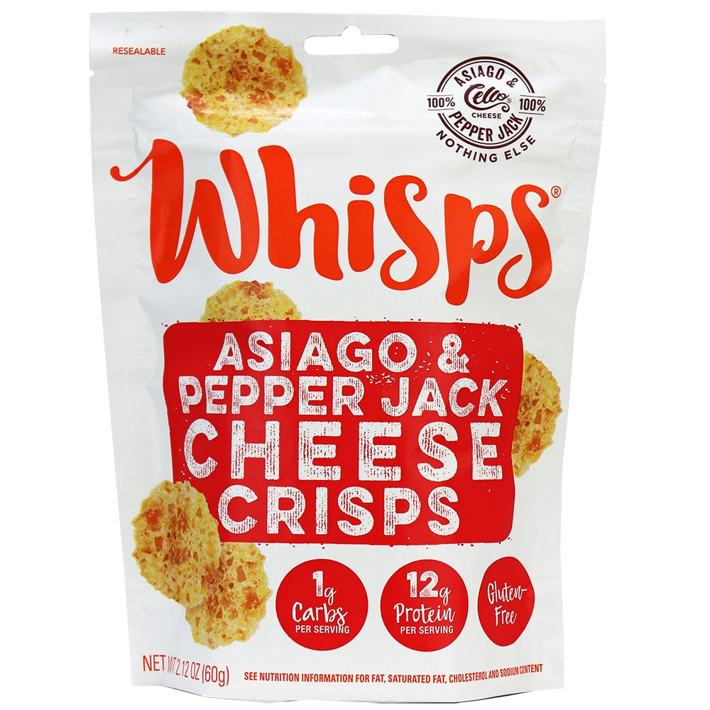 Whisps - Asiago & Pepper Jack Cheese Crips 60g