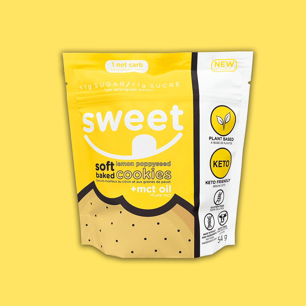 Sweet Nutrition Soft Baked Cookies - Lemon Poppyseed