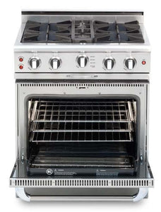 "Capital Culinarian 30"" Open Burner Range Convection Oven Stainless Steel Self Clean CGSR304"