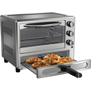Oster TSSTTVPZDA Convection Toaster Oven With Pizza Drawer 1400W - Stainless Steel
