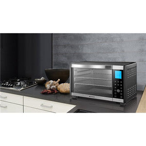 Emerson ER101004 Convection & Rotisserie Toaster Oven 6 Slice 1600W - Black