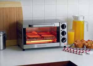 Hamilton Beach 31401 Countertop Toaster Oven 4 Slice - Stainless Steel
