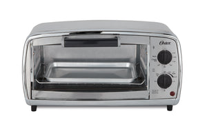 Oster TSSTTVVGS1 Dial Control Toaster Oven 4 Slice 1000W - Brushed Stainless Steel