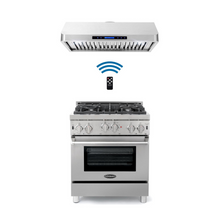Cosmo 2 Piece Kitchen Appliance Package - Gas Range And Range Hood COS-GRP304/QS75