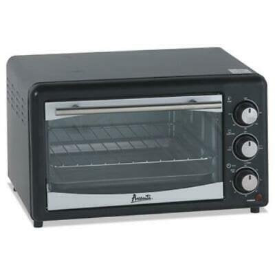 Avanti POW61B Rotary Toaster Oven With Broiler - Black