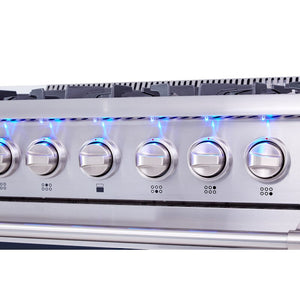 "Thor 36"" Oven Dual Fuel Range Stainless Steel 6 Burners 5.2 cu. ft. HRD3606U"