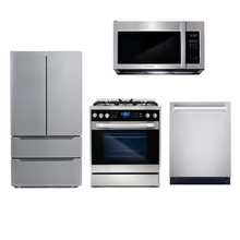 Cosmo 4 Piece Kitchen Appliance Package With Electric Range, Microwave Oven, Dishwasher, Refrigerator Stainless Steel COS-305DFSC / 3019ORM2SS