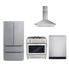 Cosmo 4 Piece Kitchen Appliance Package With Electric Range, Range Hood, Dishwasher, Refrigerator Stainless Steel COS-F965/63190 4PC