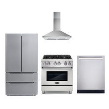 Cosmo 4 Piece Kitchen Appliance Package With Electric Range, Range Hood, Dishwasher, Refrigerator Stainless Steel COS-DFR304/63175 4PC