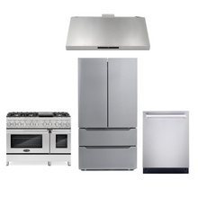 Cosmo 4 Piece Kitchen Appliance Package With Electric Range, Range Hood, Dishwasher, Refrigerator Stainless Steel COS-DFR486G/18U48 4PC