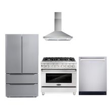 Cosmo 4 Piece Kitchen Appliance Package With Electric Range, Range Hood, Dishwasher, Refrigerator Stainless Steel COS-DFR366/63190 4PC