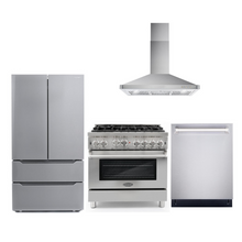 Cosmo 4 Piece Kitchen Appliance Package With Electric Range, Range Hood, Dishwasher, Refrigerator Stainless Steel COS-GRP366/63190 4PC
