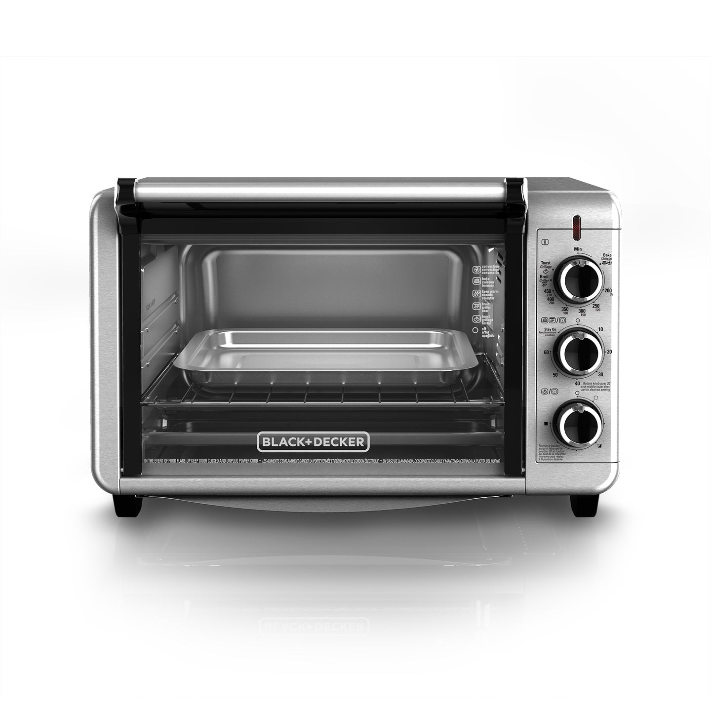 Black & Decker TO3210SSD Convection Toaster Oven 6-Slice - Silver