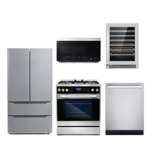 Cosmo 5 Piece Kitchen Appliance Package With Electric Range, Microwave Oven, Dishwasher, Refrigerator, Wine Cooler Stainless Steel COS-305DFSC/ 3016ORM1SS