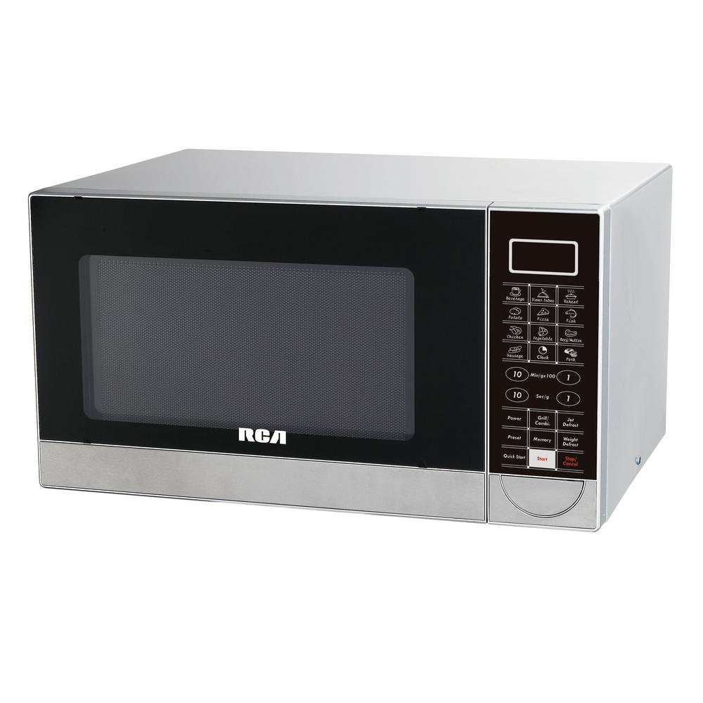 RCA RMW1182 Countertop Microwave 1000W With Grill - Stainless Steel