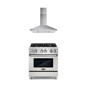 Cosmo 2 Piece Kitchen Appliance Package - Dual Fuel Range And Range Hood COS-DFR304/63175