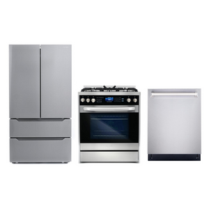 Cosmo 3 Piece Kitchen Appliance Package With Electric Range, Dishwasher, Refrigerator Stainless Steel COS-305DFSC/NOHOOD 3PC
