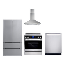 Cosmo 4 Piece Kitchen Appliance Package With Electric Range, Range Hood, Dishwasher, Refrigerator Stainless Steel COS-305AERC/63175 4PC