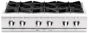 "Capital CGRT362B2 Culinarian 36"" 4 Open Burner Rangetop With 12"" BBQ Grill"