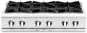 "Capital CGRT362G2 Culinarian 36"" 4 Open Burner Rangetop With 12"" Griddle"