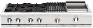 "Capital CGRT484BG Culinarian 48"" 4 Open Burner Rangetop With 12"" BBQ Grill + 12"" Griddle"