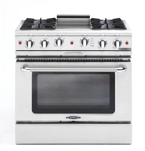 "Capital Culinarian 36"" Stainless Steel Open Burner Range Convection CGSR362G2"