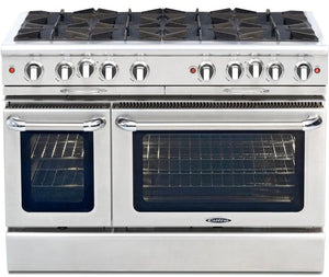 "Capital Culinarian 48"" CGSR488 Gas Range Open Burners Convection Self Clean Oven"
