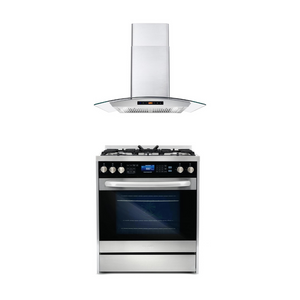 Cosmo 2 Piece Kitchen Appliance Package - Dual Fuel Range And Range Hood COS-305DFSC/668AS750