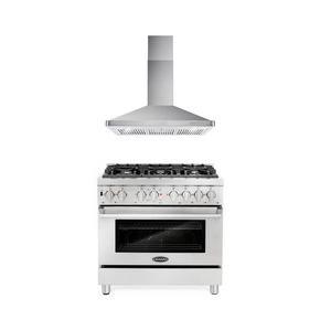 Cosmo 2 Piece Kitchen Appliance Package - Dual Fuel Range And Range Hood COS-DFR366/63190