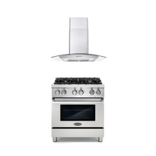 Cosmo 2 Piece Kitchen Appliance Package - Dual Fuel Range And Range Hood COS-DFR304/668A750