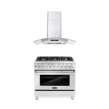 Cosmo 2 Piece Kitchen Appliance Package - Dual Fuel Range And Range Hood COS-DFR366/668AS900