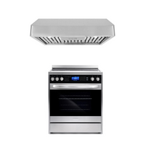 Cosmo 2 Piece Kitchen Appliance Package - Electric Range And Range Hood COS-305AERC/QB75