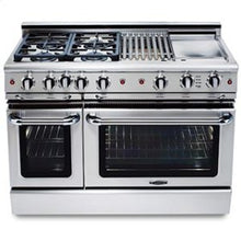 "Capital GSCR488 Precision 48"" Self Clean Gas Range 8 Sealed Burners With 4.9 Cu. Ft. Oven"