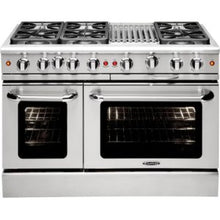 "Capital MCR486B Precision 48"" Gas Manual Clean Range 6 Sealed Burners With 4.9 Cu. Ft. Oven + 12"" BBQ Grill"