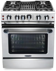 "Capital GSCR304B Precision 30"" Self Clean Gas Range 4 Sealed Burners With 4.1 Cu. Ft. Oven + 9"" BBQ Grill Burner"