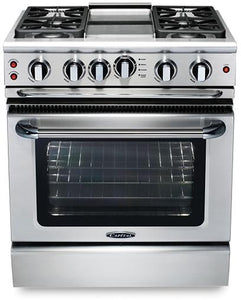 "Capital GSCR304G Precision 30"" Self Clean Gas Range 4 Sealed Burners With 4.1 Cu. Ft. Oven + 9"" Thermo-Griddle"