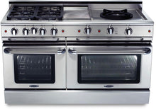 "Capital GSCR604BW Precision 60"" Self Clean Gas Range 4 Sealed Burners With 4.1 Cu. Ft. Oven + 12"" BBQ Grill, 24"" Power Wok"