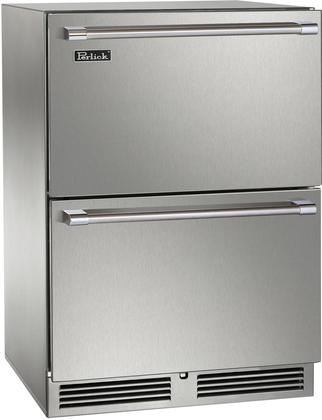 Perlick Built-in Dual Zone Freezer/Refrigerator Drawers. HP24ZS-3-5