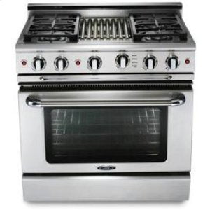 "Capital MCOR364B 36"" Freestanding Gas Range With 4 Open Burners 4.9 Cu. Ft. Oven + 12"" BBQ Grill"