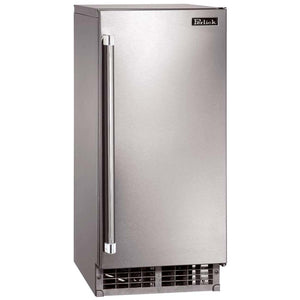 Perlick H80CIMW 15in Cubelet Ice Maker With Panel Ready Reversible Door 22lbs Ice Storage