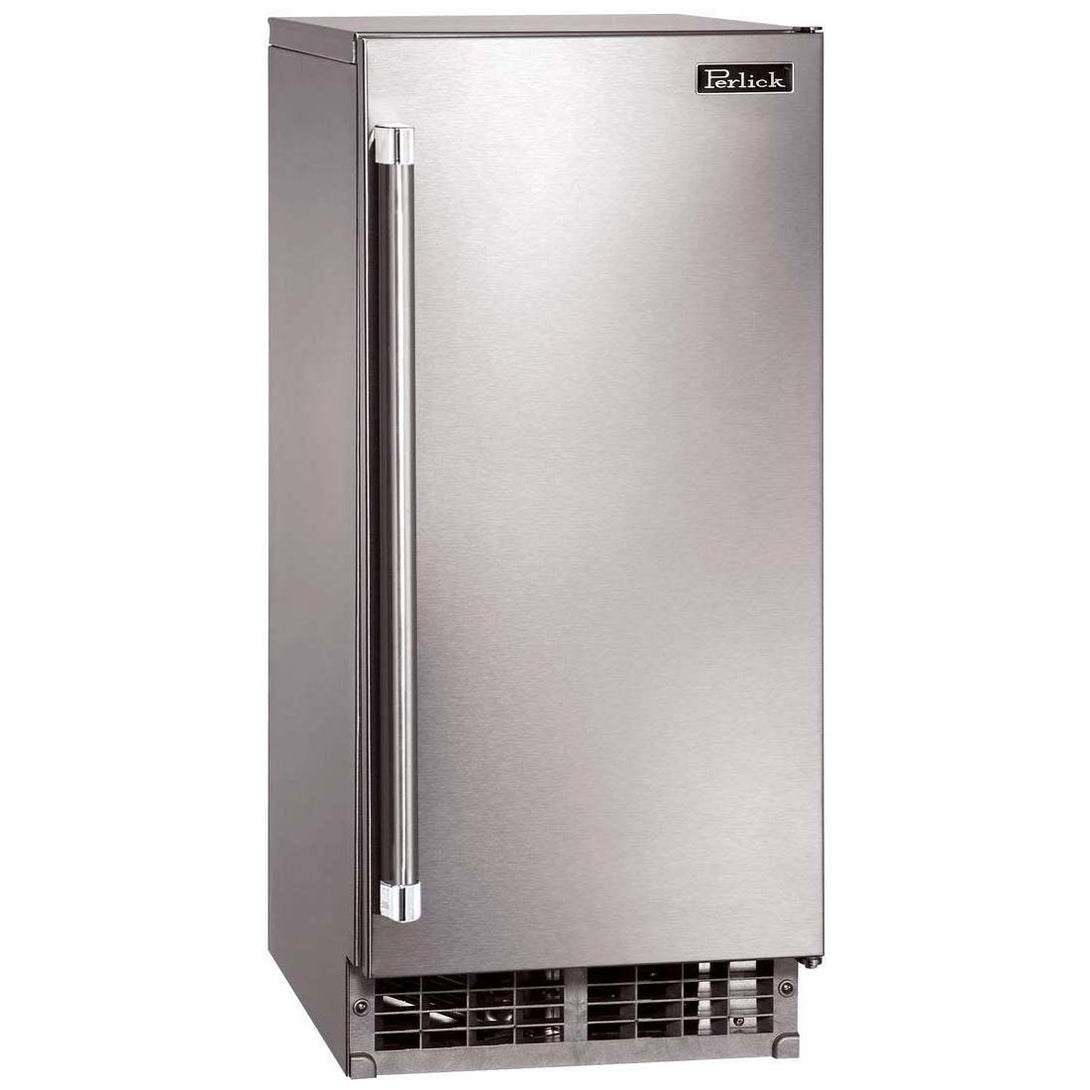 Perlick H80CIMS-ADL 15in ADA Compliant Cubelet Ice Maker With Stainless Steel Door 22 lbs Ice Storage