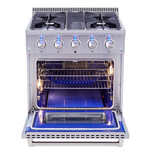 "Thor 30"" Professional Gas Range Stainless Steel 4.2 Cu. Ft. Oven HRG3080U"