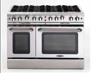 "Capital MCOR488 Culinarian 48"" Freestanding Gas Range With 8 Open Burners  4.9 Cu. Ft. Oven"