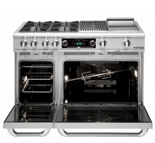 "Capital COB484GG Connoisseurian 48"" Dual Fuel Self Clean Range 4 Open Burners With 5.4 Cu. Ft. Convection Oven + 24"" Griddle"
